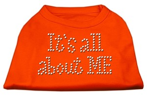 It's All About Me Rhinestone Shirts Orange Lg (14)